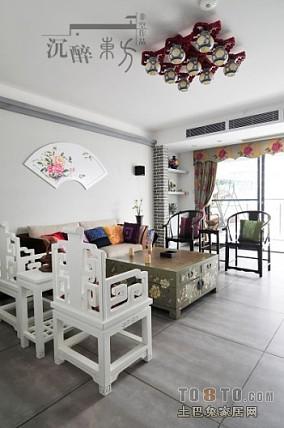 2018面积124平混搭四居客厅装修设计效果图