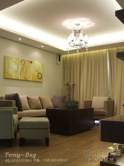 热门74平米二居客厅混搭装修效果图客厅潮流混搭客厅设计图片赏析