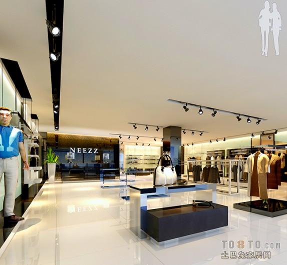 商务潮流男装店铺吊顶设计图购物空间其他设计图片赏析