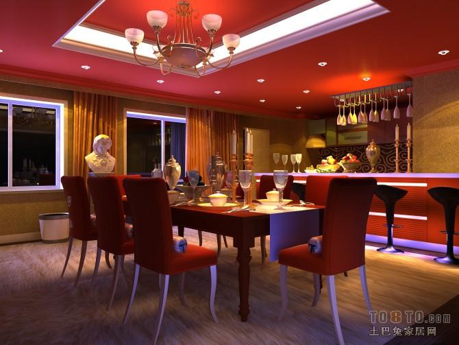 悠雅109平混搭三居餐厅效果图欣赏厨房潮流混搭餐厅设计图片赏析
