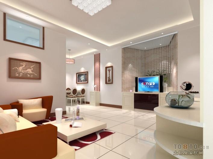 2018精选76平米二居客厅混搭设计效果图客厅潮流混搭客厅设计图片赏析