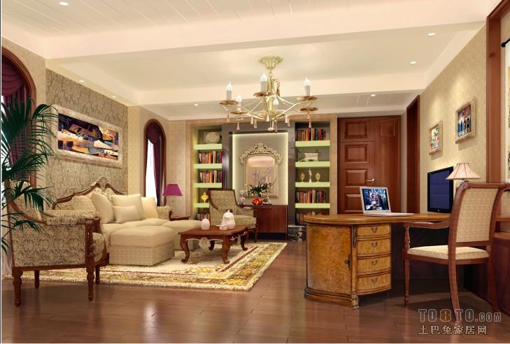 碧桂园蓝城-欧式古典客厅装修效果图