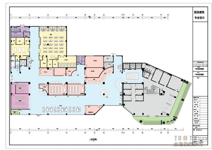 室内设计事务所 施工图工作室最新作品 医院设计装修设计案高清图片