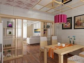 时尚现代两居室内餐厅装饰效果图