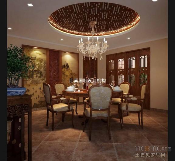 中式古典餐厅装修效果图图片
