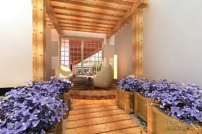 精美112平米混搭复式阳台效果图片欣赏