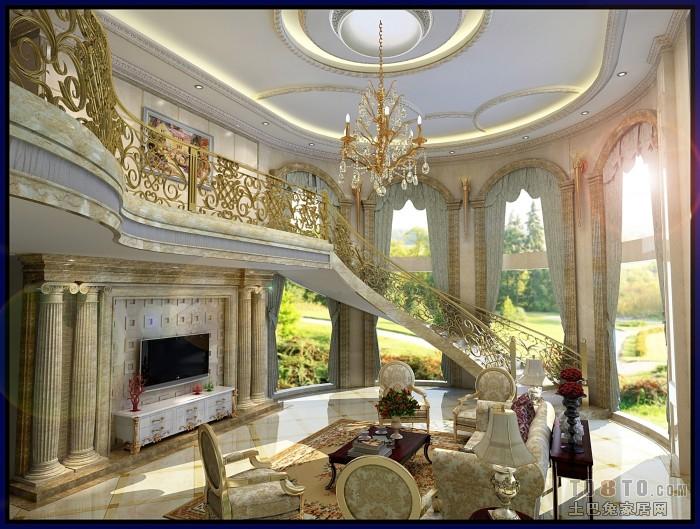 欧式现代客厅装修效果图