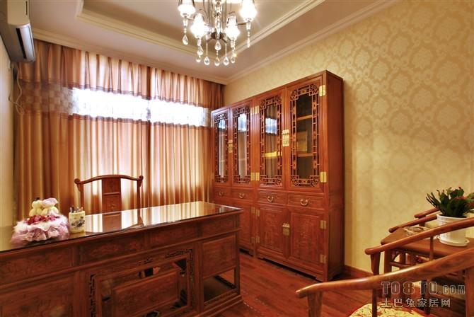 欧式现代书房装修效果图