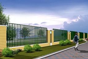 厂房围墙样式图片