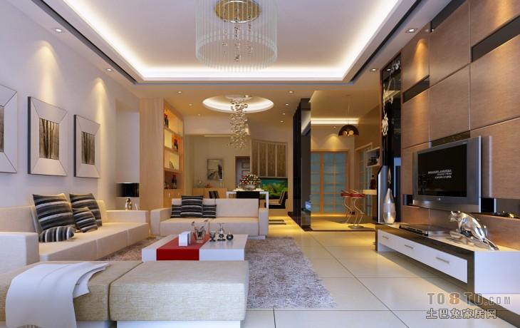 后现代风格客厅装修效果图