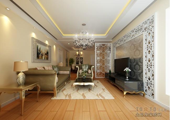 碧桂园-欧式现代客厅装修效果图图片