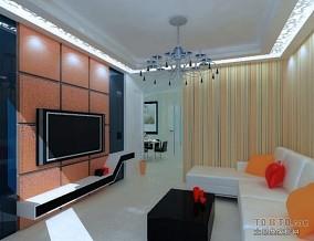热门面积87平小户型客厅混搭装修设计效果图