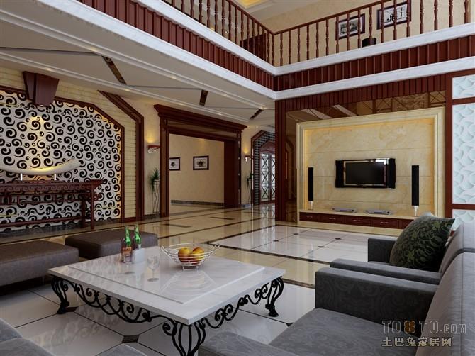 港城别墅-新古典主义客厅装修效果图