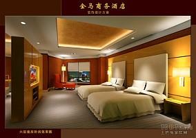 北欧25平极简卧室客厅一体装修图