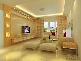 2018精选96平米3室客厅混搭装修效果图片欣赏