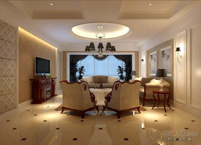 碧桂园银河城-欧式古典客厅装修效果图