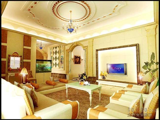 装修网  欧式装饰风格,室内外装饰豪华.顶面尺度较大分成几高清图片