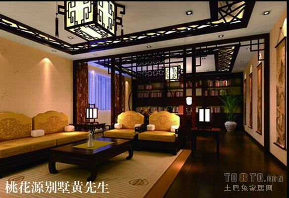 中式古典装修效果图_整套展示