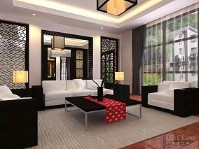 地中海豪华别墅客厅设计图片