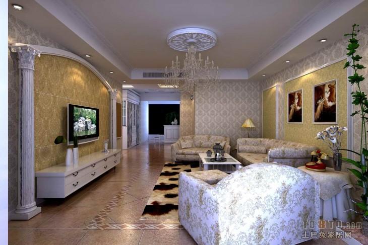 塞维利亚-欧式古典客厅装修效果图