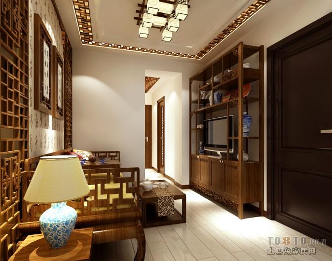 北影小区-中式现代客厅装修效果图