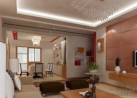 2018精选混搭3室客厅装修设计效果图片欣赏95.06平