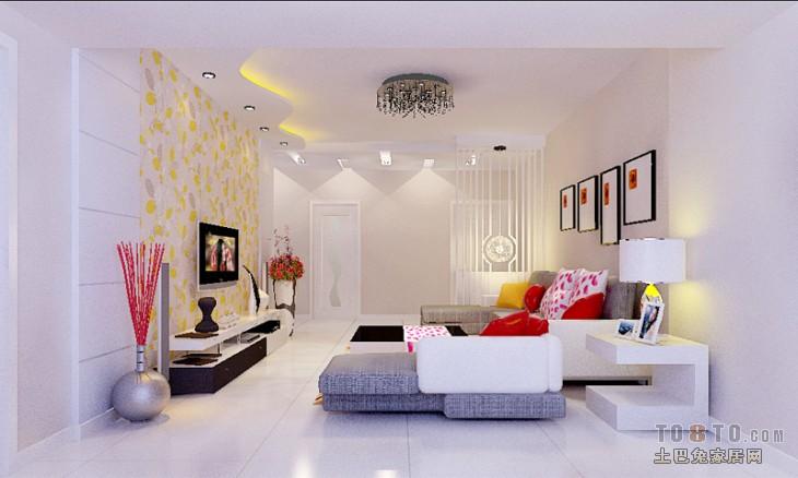 永盛成公寓楼-现代风格客厅装修效果图图片