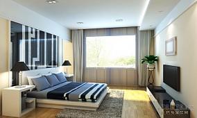 中式现代卧室家装效果图片