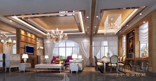 欧式样板房装修设计_新古典主义装修效果图