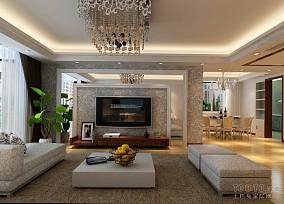 设计感108平米三居室图片