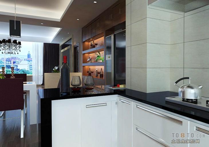 热门面积102平混搭三居厨房装饰图片餐厅潮流混搭厨房设计图片赏析