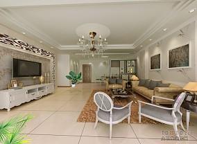 热门面积141平复式客厅欧式装饰图片大全