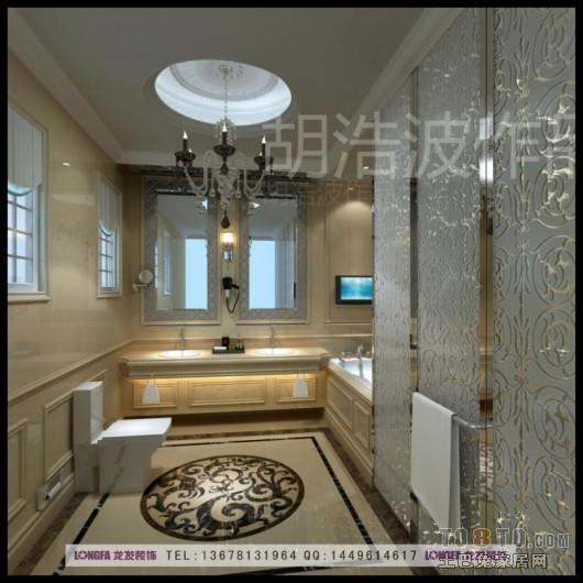 欧式古典卫生间装修效果图
