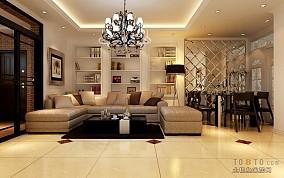 热门103平方三居客厅欧式实景图片