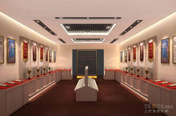 效果图设计理念 荣誉室 展览展示装修效果图 高清图片