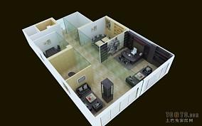 清新绿色住宅隔断设计