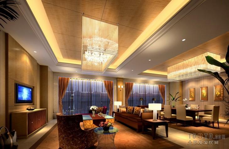 酒店宾馆装修效果图列表 所属案例:星级 3间套豪华套房客厅【单张】图片