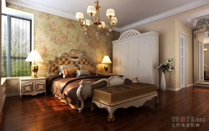 滨湖春天-欧式现代卧室装修效果图