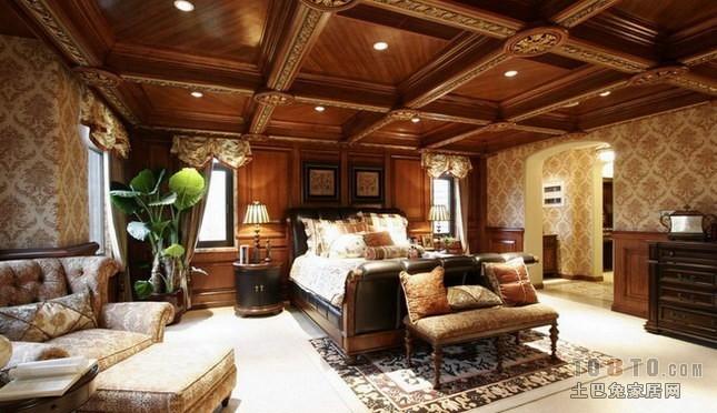 龙湖·世纪峰景-欧式古典卧室装修效果图