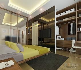 2018精选面积86平小户型卧室混搭装修设计效果图片大全