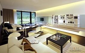 现代风格客厅博古架效果图