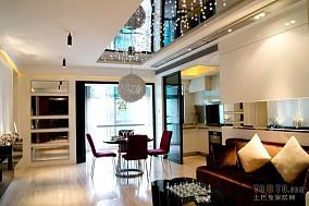 现代130平米三居室图片