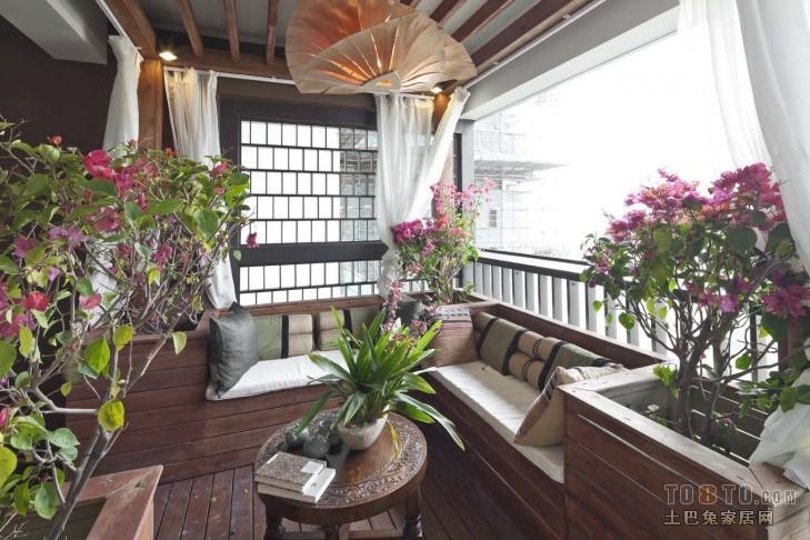 中式现代休闲区装修效果图