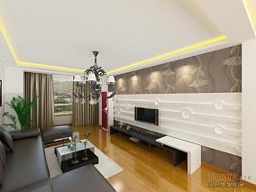 精美86平米二居客厅混搭装修效果图片大全