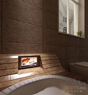小户型浴室玻璃门效果图