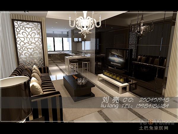 黑镜雕花电视背景墙... www.to8to.com 宽600x450高