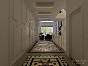 走廊抛光砖贴图