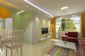 三房两厅装修图客厅设计