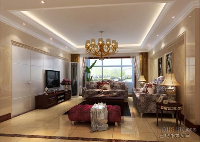 金合嘉园-欧式现代客厅装修效果图图片
