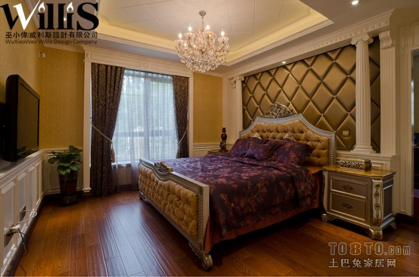 南郊名墅-欧式古典卧室装修效果图图片